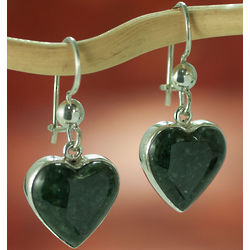 Love Immemorial Jade Heart Earrings