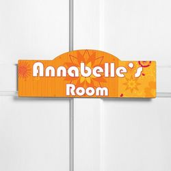 Orange Blossom Personalized Kid's Room Sign