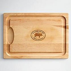 Personalized Cutting Board with Pig Design