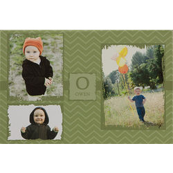 Personalized Three Photo Collage 12x18 Canvas