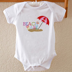 Beach Babe Personalized Baby Bodysuit