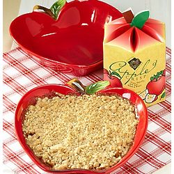 Apple Crisp and Apple Stoneware Baker Gift Set