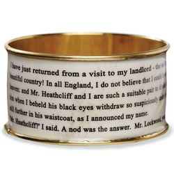 Wuthering Heights Literary White Bangle