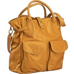 Caramel Leather Weekender Bag