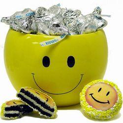Smiles and Kisses in Ceramic Jar