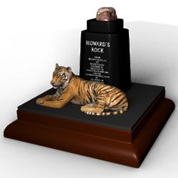 Howard's Rock with Tiger Sculpture