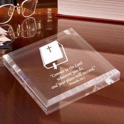 Personalized Bible Keepsake & Paperweight