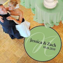 Elegance Wedding Dance Floor Decal