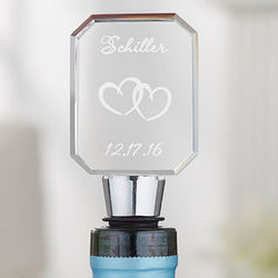 A Toast To Love Engraved Bottle Stopper