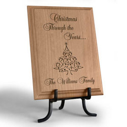 Personalized Christmas Through the Years...Wooden Plaque