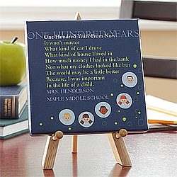 Personalized One Hundred Years From Now Teacher Canvas
