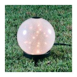 Small Luna Lantern on Petite Stand with Sparkle Globe