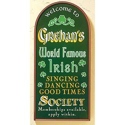 Personalized Irish Society Plaque