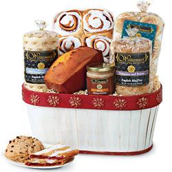 Poinsettia Bakery Treats Gift Basket
