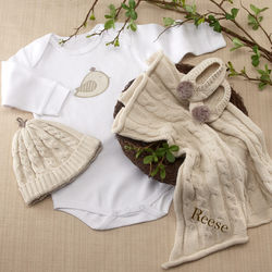Feathering the Nest 4 Piece Layette Gift Set