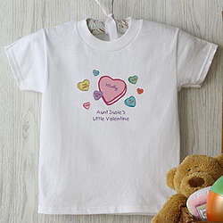 Candy Hearts Personalized Valentine's Day Baby Shirt