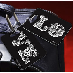 Personalized Love Connection Black Luggage Tags
