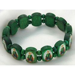 Brazilian Green Wood Saint Patrick Bracelet