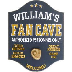Original Fan Cave Personalized Pub Sign