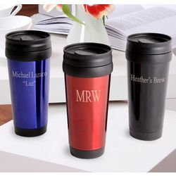 On-the-Go Personalized Travel Tumbler