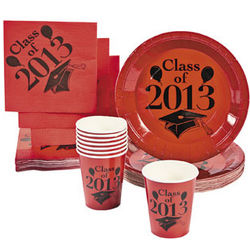 Class of 2013 Red Paper Tableware Set