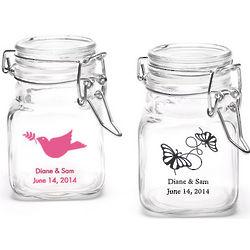 Personalized Mini Glass Airtight Favor Jars