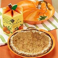 Pumpkin Cobbler and Pumpkin Stoneware Baker Gift Set