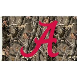 Alabama Crimson Tide Camouflage Flag