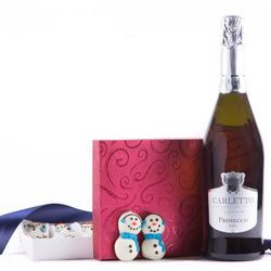 Let it Snow Sparkling Wine and Truffles