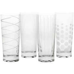 Cheers Etched Design Highball Glasses