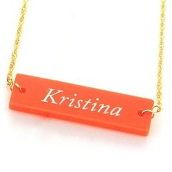 Acrylic Block Name Necklace