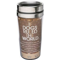 If Dogs Ruled the World Insulated Travel Mug