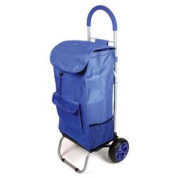 Blue Wheeled Trolly Dolly Bag