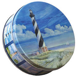North Carolina Lighthouse Gift Tin with Sugar Free Cookies