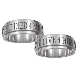Live 4 Him Spinner Ring