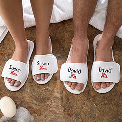 His & Her Spa Slippers