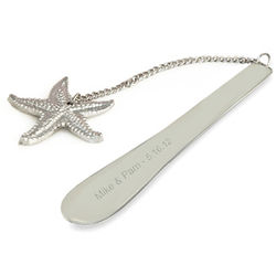 Personalized Silver Starfish Bookmark