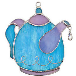 Tea Time Fused Stained Glass Switchable Ornament