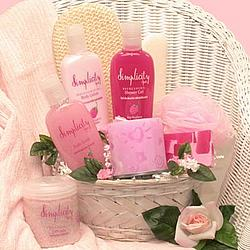 Simply Pink Aromatherapy Essentials Gift Basket
