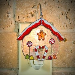 Gingerbread House Switchables Stained Glass Ornament
