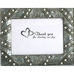 Pewter Silver Place Card Frame