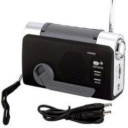 ELCRANK3 Wind-Up FM/Weather Radio/LED Flashlight