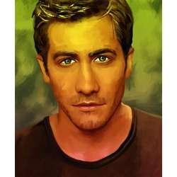 Jake Gyllenhaal Oil Painting Style Print