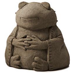 Zen Frog Garden Sculpture