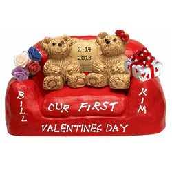 Loving Couple Personalized First Valentine's Day Figurine