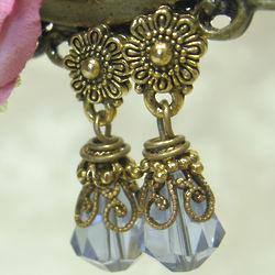 Light Sapphire Blue Petite Drop Earrings