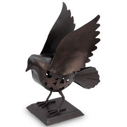 Dove of Peace Wrought Iron Candleholder