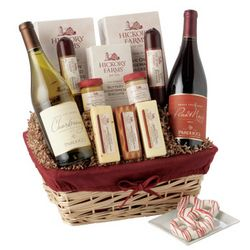 Hickory Farms Winter Wonderland Wine Gift Basket