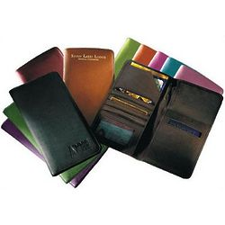 Leather Airline Ticket and Passport Case