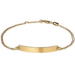 Personalized Name Bar Gold Vermeil Bracelet